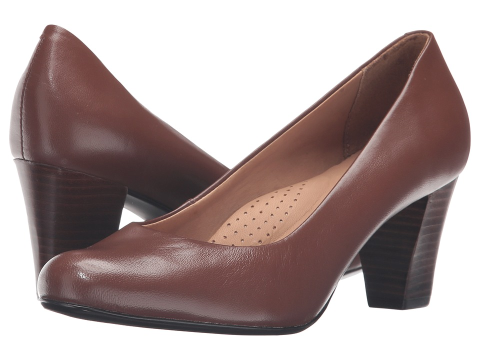 Hush Puppies - Alegria (Tan Leather) Women's 1-2 inch heel Shoes