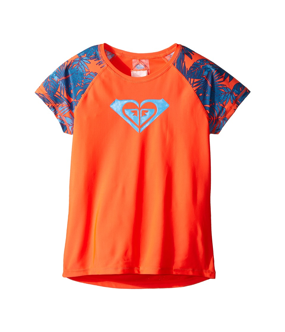Roxy Kids - Primal Palms Rashguard (Big Kids) (Cayenne) Girl's Swimwear