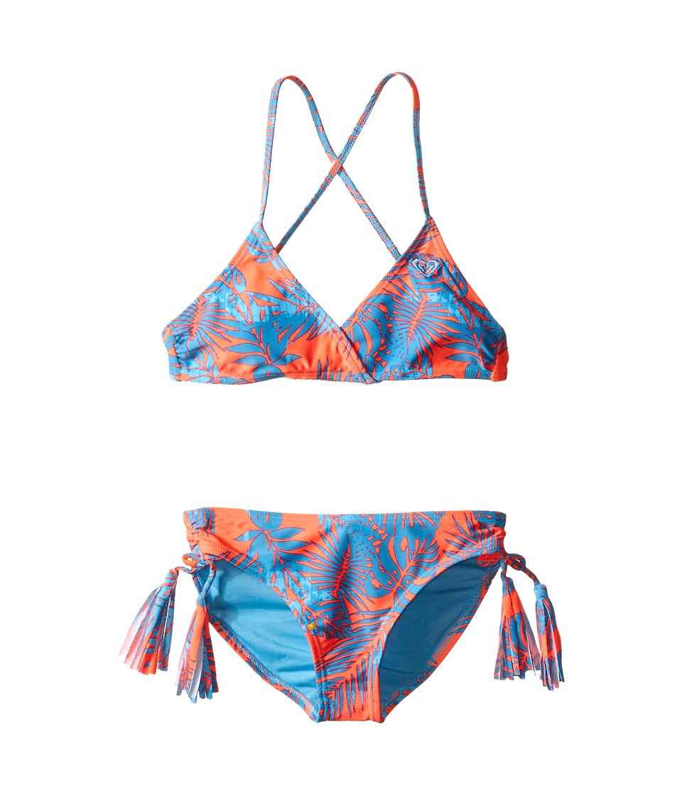 Roxy Kids - Primal Palms Tie Back Set (Big Kids) (Cayenne) Girl's Swimwear Sets