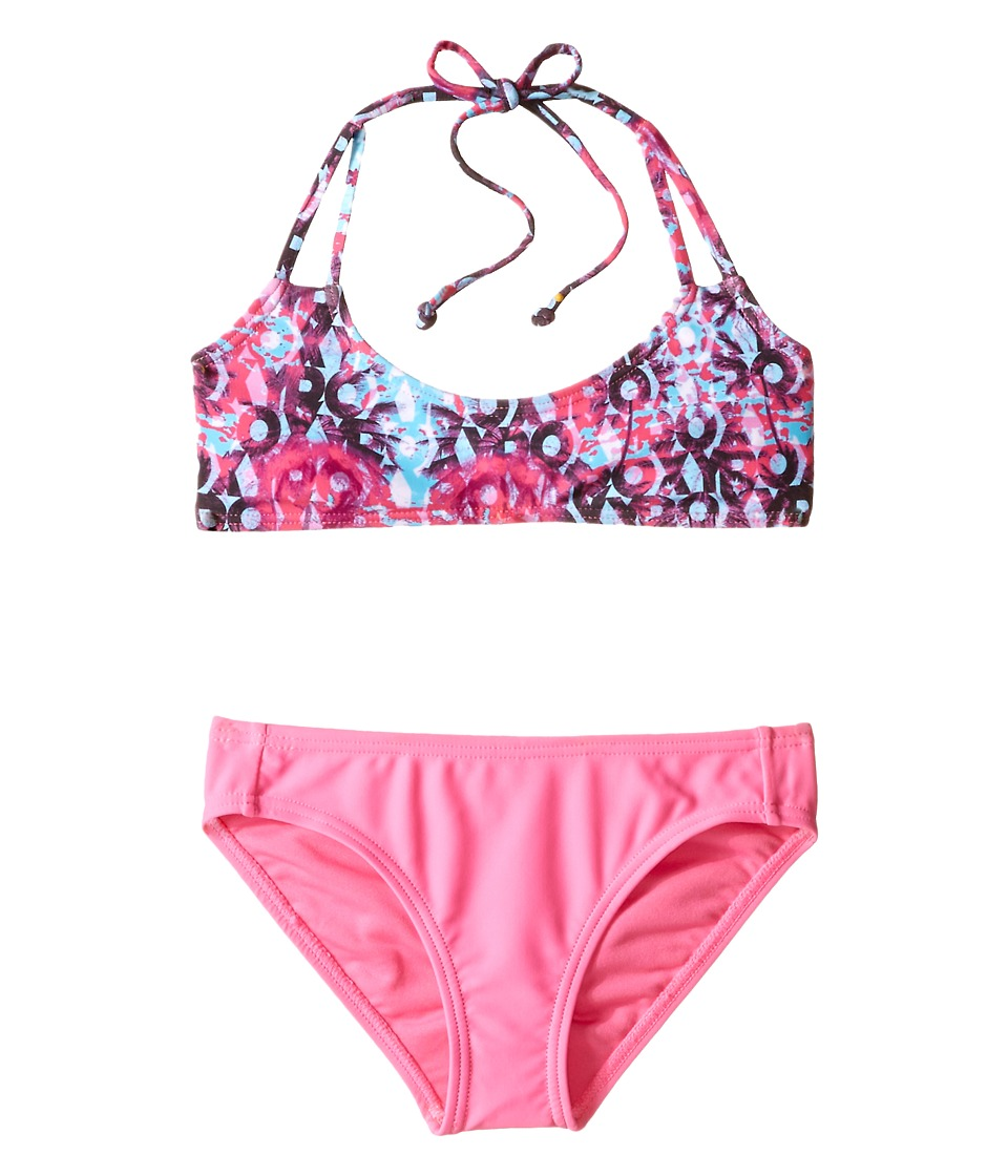 Roxy Kids - Altered Destination Bandeau Set (Big Kids) (Sugar Plum) Girl's Swimwear Sets