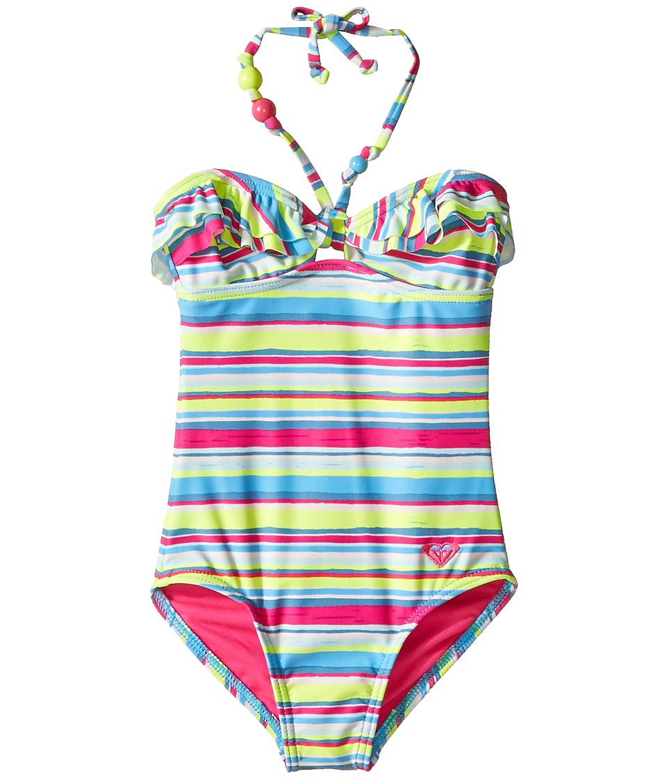 Roxy Kids - Island Tiles One-Piece (Toddler/Little Kids) (Sunny Lime) Girl's Swimsuits One Piece