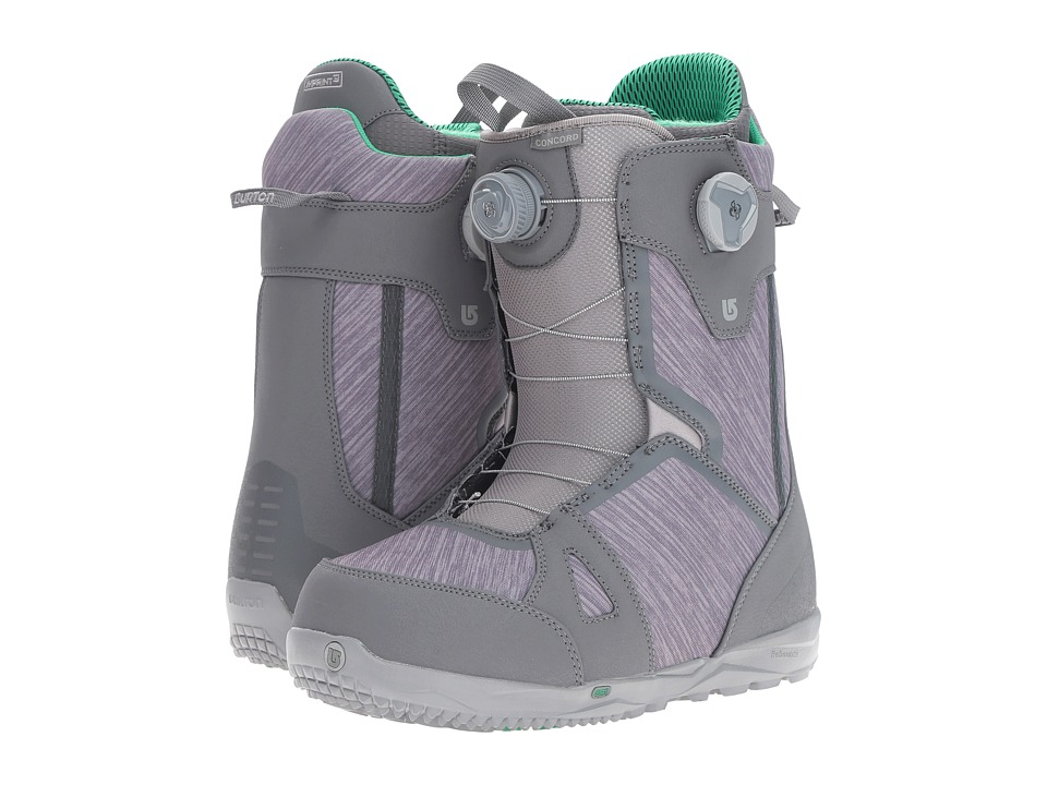 Burton - Concord Boa '17 (Gray/Green) Men's Cold Weather Boots