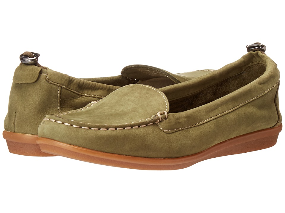 Hush Puppies - Endless Wink (Dark Olive Nubuck) Women's Slip on Shoes