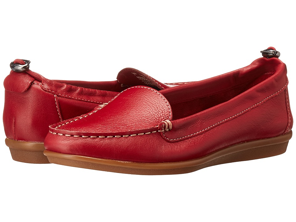 Hush Puppies - Endless Wink (Red Leather) Women's Slip on Shoes