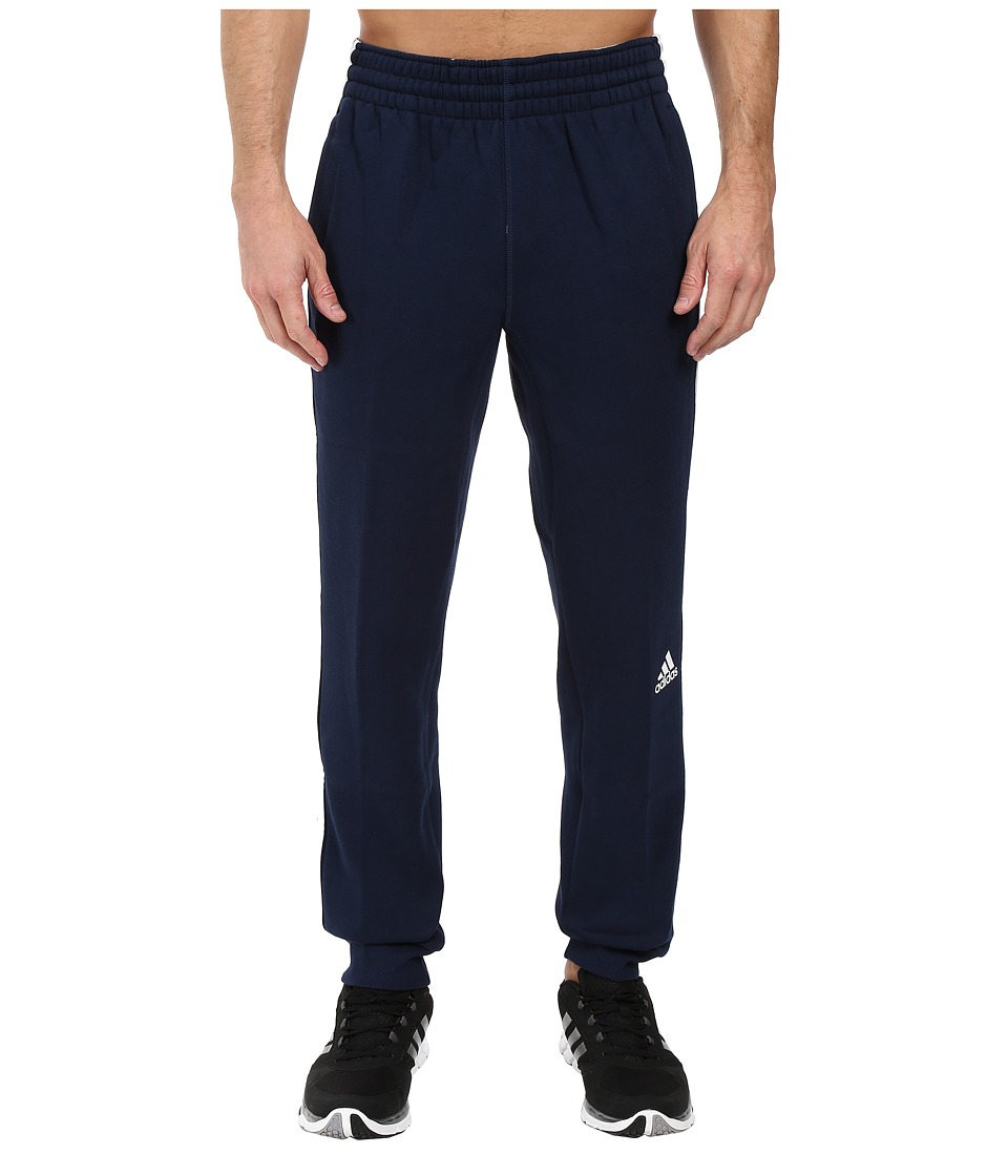 adidas - Slim 3-Stripes Sweatpants (Collegiate Navy/White) Men's Workout