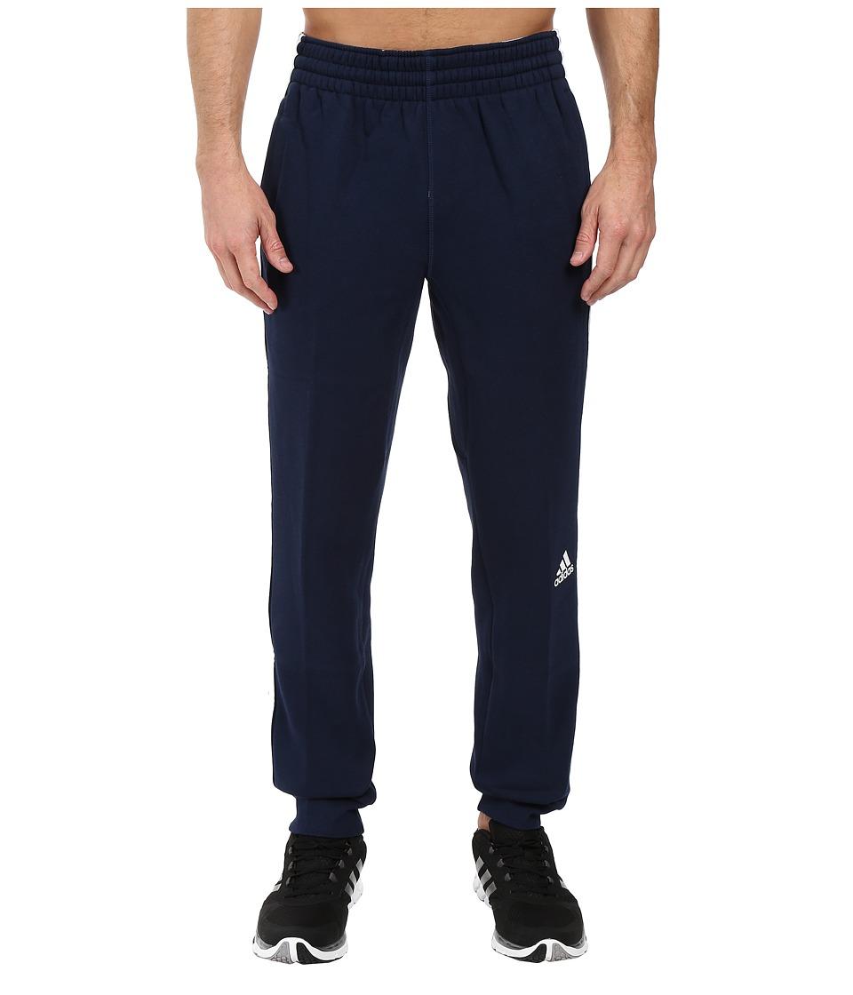 adidas - Slim 3-Stripes Sweatpants (Collegiate Navy/White) Men's Workout