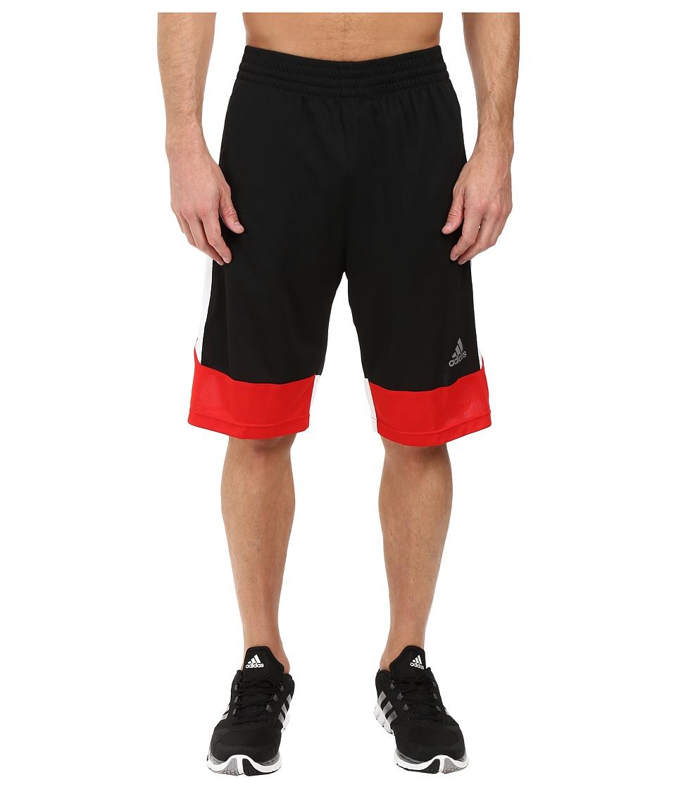 adidas - Key Item Team Shorts (Black/White/Scarlet) Men's Shorts