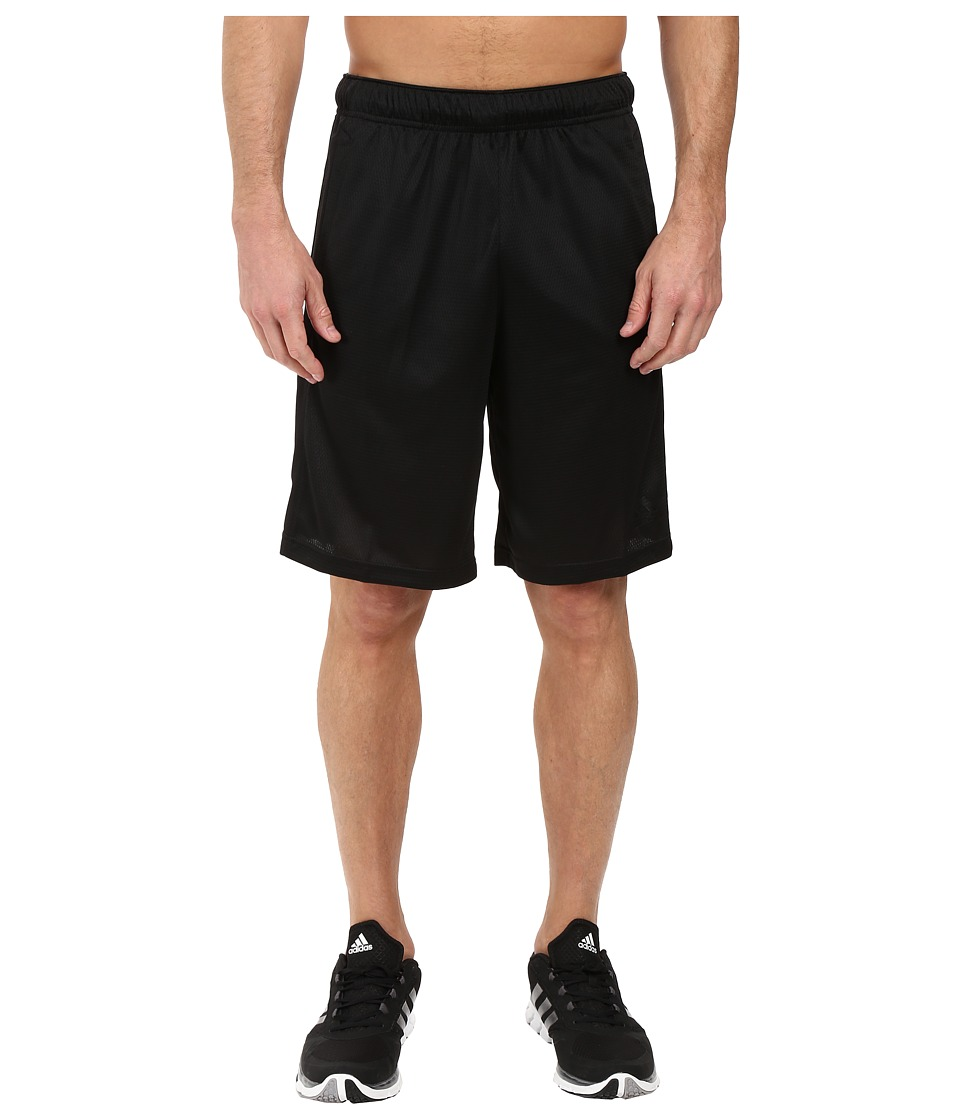 adidas - Essential 3S Shorts (Black/Black) Men's Shorts