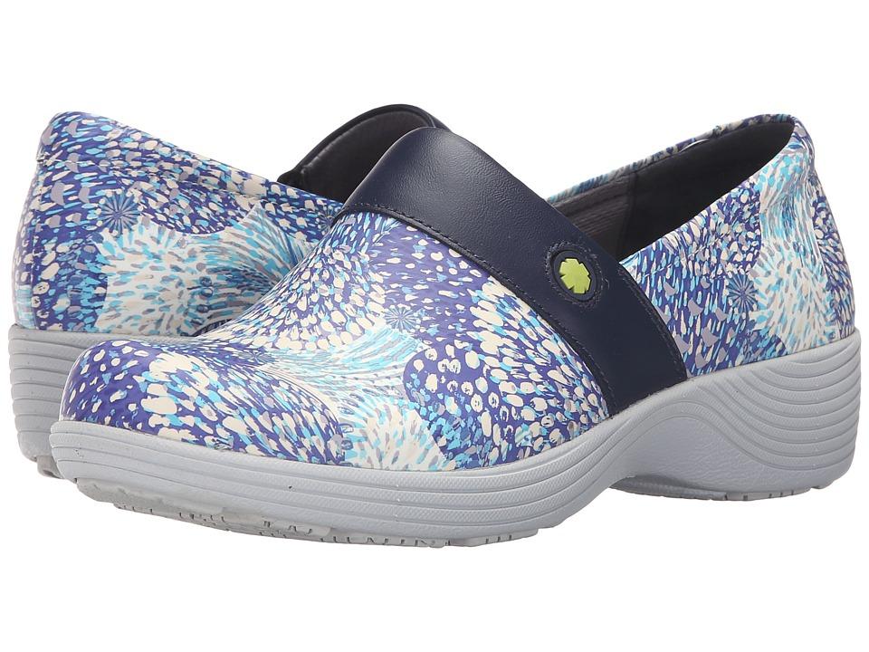Dansko - Camellia (Blue Blossom Patent) Women's Clog Shoes