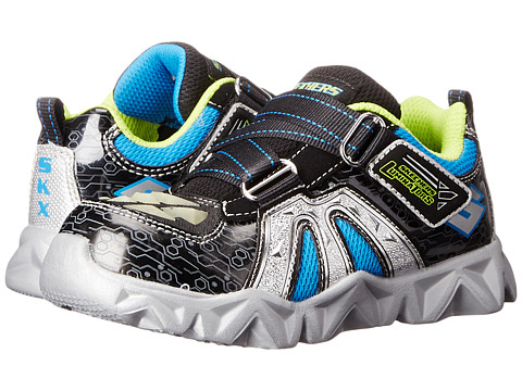 SKECHERS KIDS - Datarox - Hydrometer (Toddler) (Black/Silver) Boy's Shoes