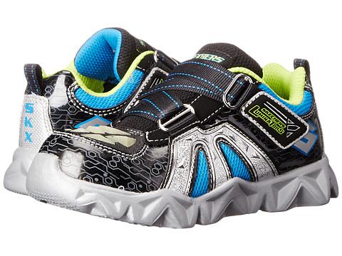 SKECHERS KIDS - Datarox - Hydrometer (Toddler) (Black/Silver) Boy's Shoes