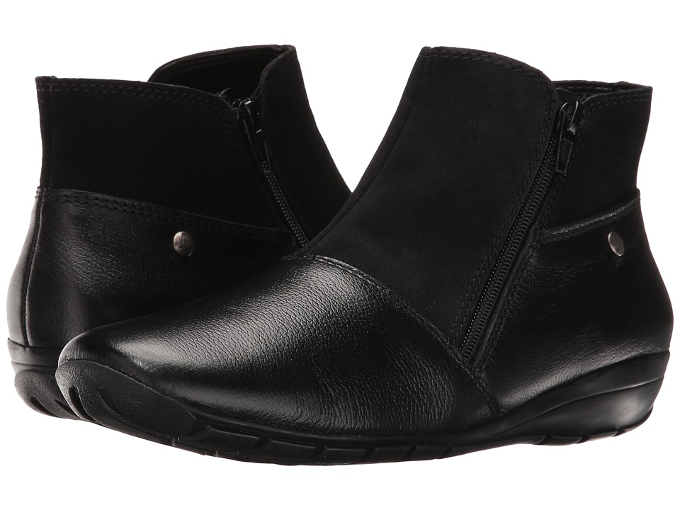 Hush Puppies Khoy Dandy (Black Suede/Leather) Women