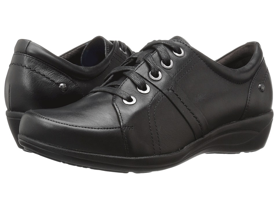 Hush Puppies Champion Oleena (Black Leather) Women