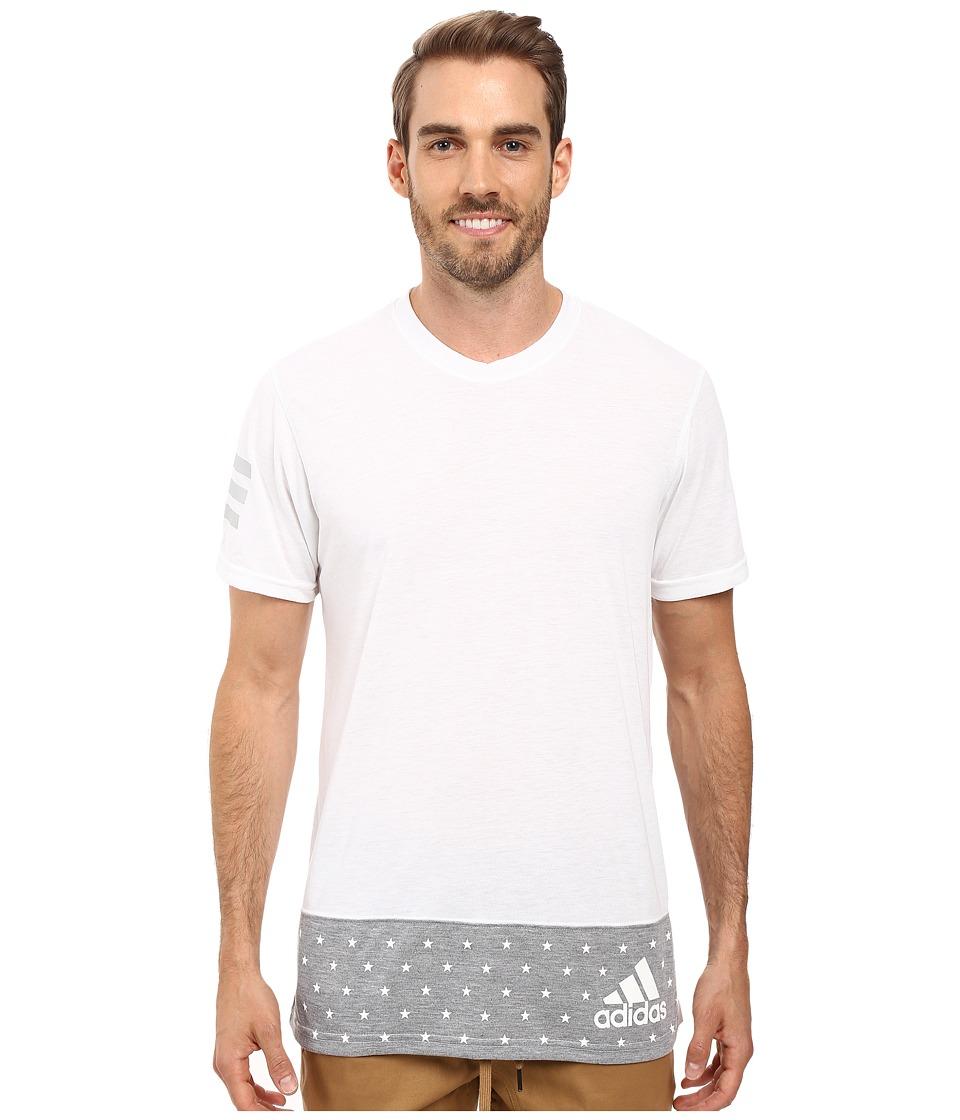 adidas - Stars and Stripes Tee (White/Medium Grey Heather/White) Men's T Shirt