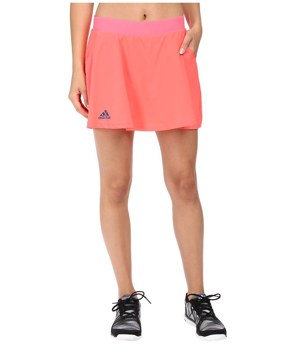 adidas - Club Skorts (Flash Red/Tech Steel) Women's Skort