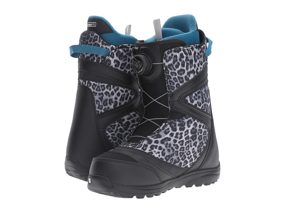 Burton - Starstruck Boa(r) '17 (Black/Snow Leopard) Women's Cold Weather Boots