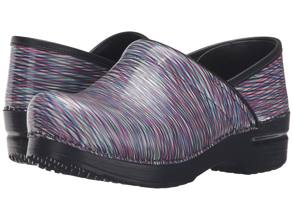 Dansko - Professional (Pastel Striped Patent) Women's Clog Shoes