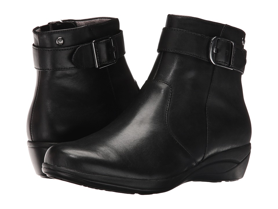 Hush Puppies Ethel Oleena (Black WP Leather) Women