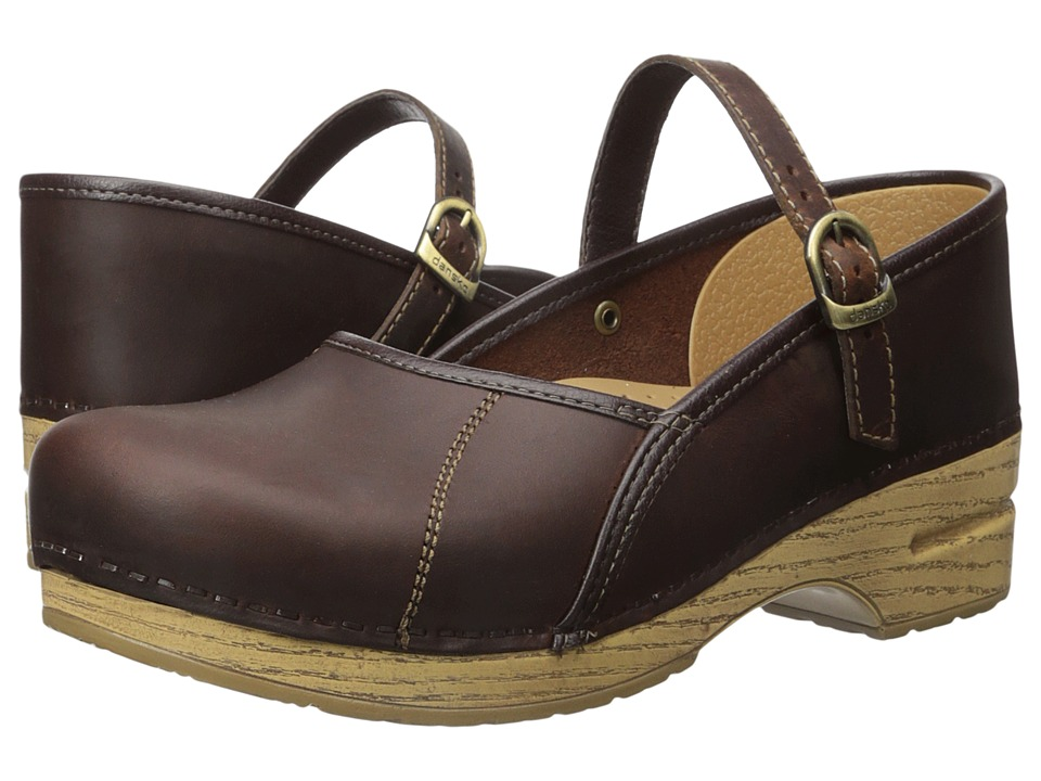 Dansko - Marcelle (Antique Brown Oiled) Women's Maryjane Shoes