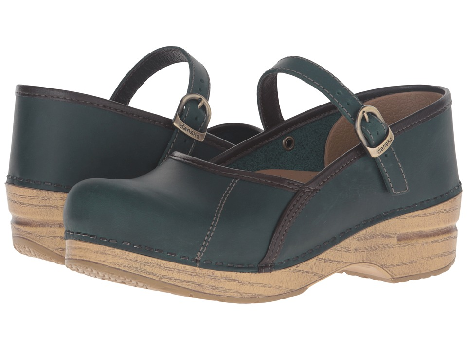 Dansko - Marcelle (Teal Oiled) Women's Maryjane Shoes