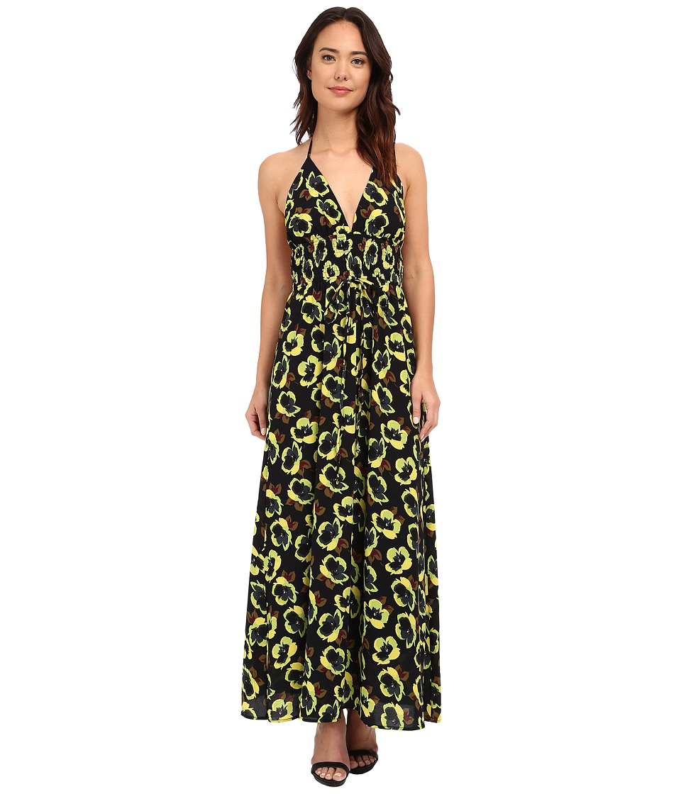 Brigitte Bailey - Kar Floral Maxi Dress (Black) Women's Dress