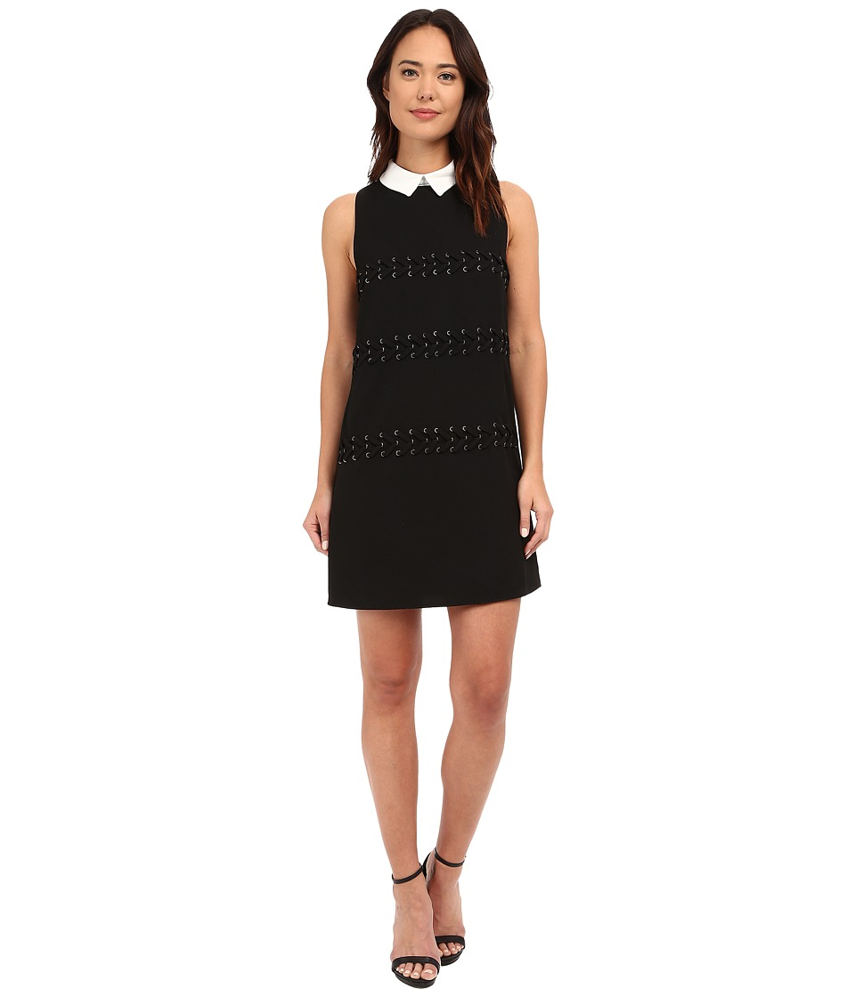 Brigitte Bailey - Kaden Stitch Front Dress (Black/White) Women's Dress