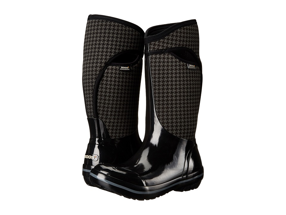 Bogs - Plimsoll Houndstooth Tall (Black Multi) Women's Waterproof Boots