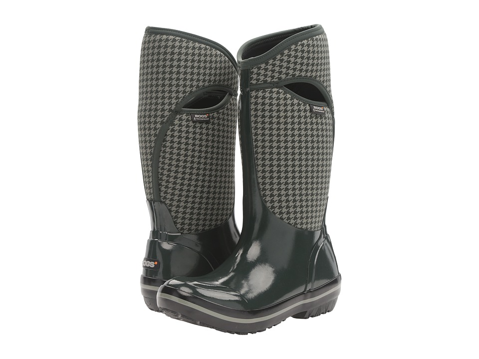 Bogs - Plimsoll Houndstooth Tall (Dark Green Multi) Women's Waterproof Boots