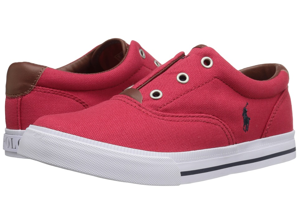 Polo Ralph Lauren Kids - Vito II (Little Kid) (Red Canvas/Grey Pony Player) Boy's Shoes