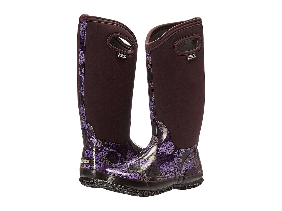 Bogs - Classic Rosey Tall (Plum Multi) Women's Waterproof Boots