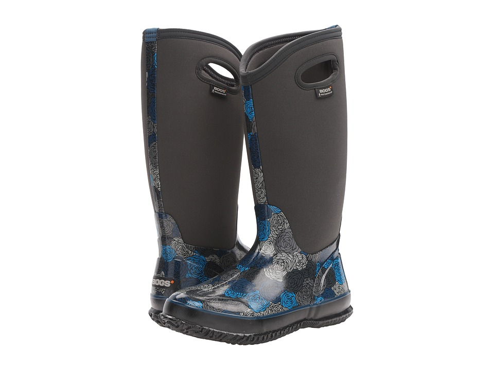Bogs - Classic Rosey Tall (Dark Gray Multi) Women's Waterproof Boots
