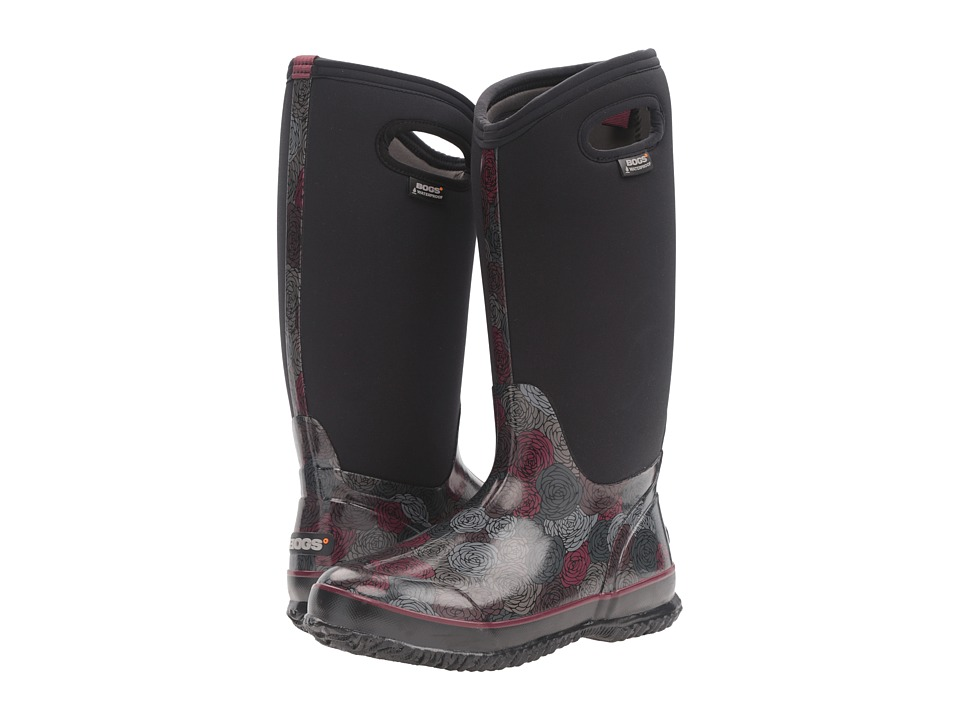 Bogs Classic Rosey Tall (Black Multi) Women