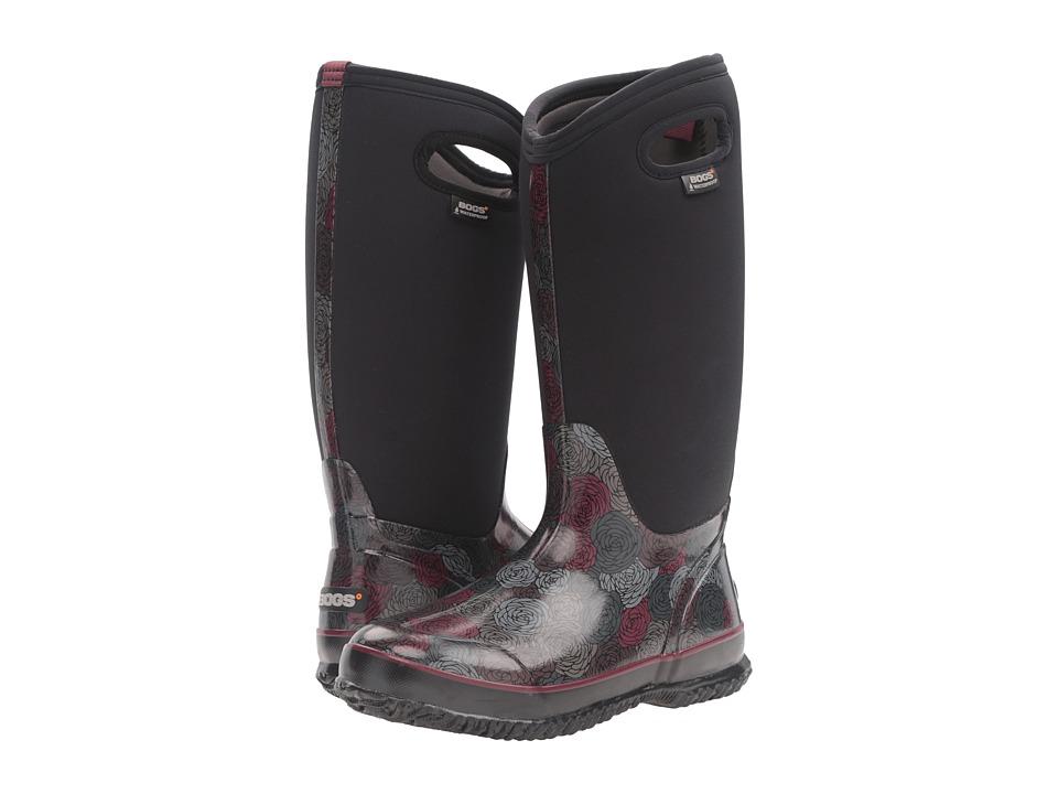 Bogs - Classic Rosey Tall (Black Multi) Women's Waterproof Boots