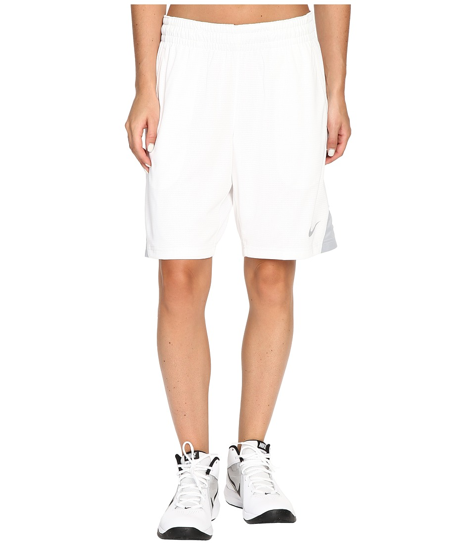 Nike - 9 Basketball Short (White/Wolf Grey/Wolf Grey) Women's Shorts
