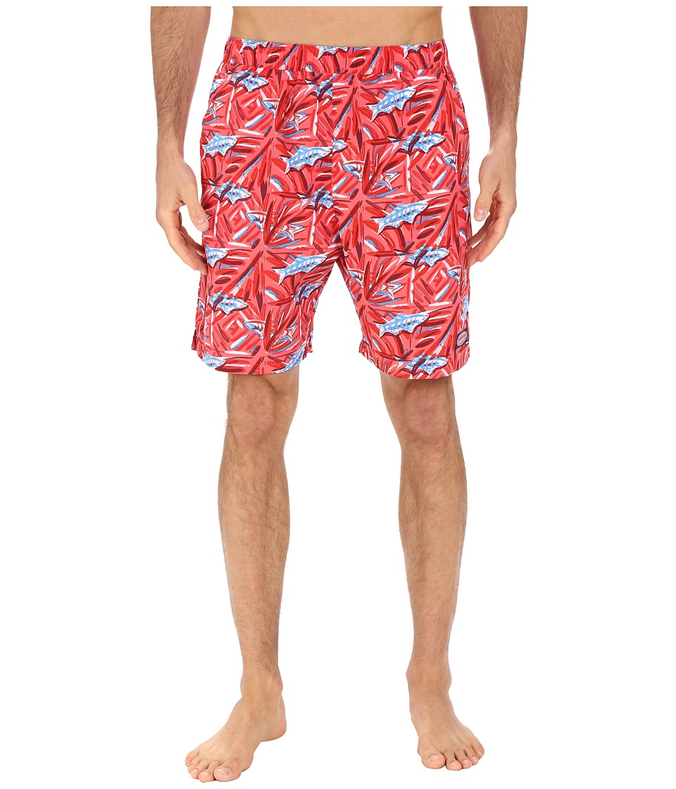 Vineyard Vines - Batik Fish Chappy Trunk (Jetty Red) Men's Swimwear