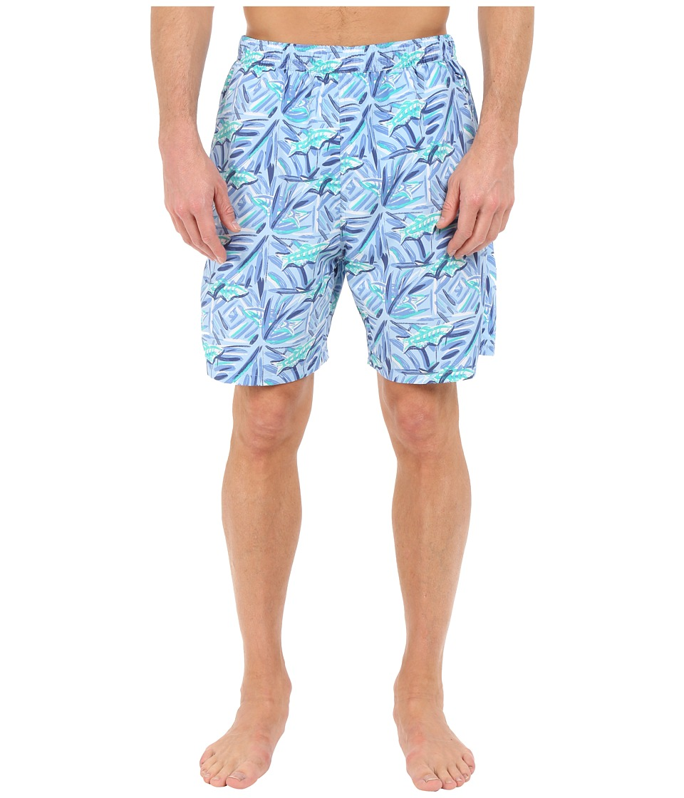 Vineyard Vines - Batik Fish Chappy Trunk (Jake Blue) Men's Swimwear