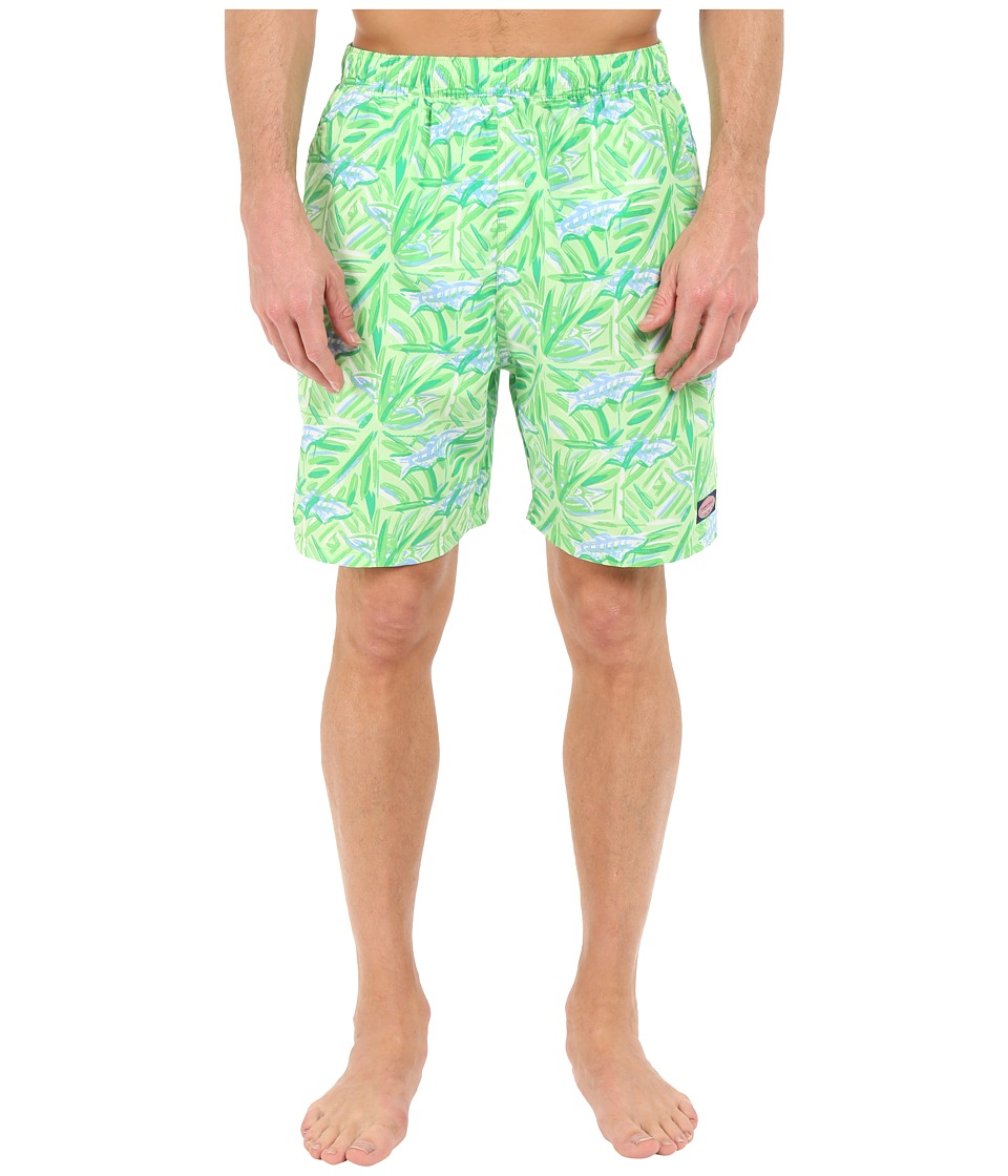 Vineyard Vines - Batik Fish Chappy Trunk (Cay Green) Men's Swimwear