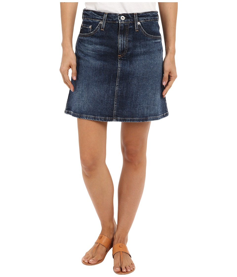 AG Adriano Goldschmied The Ali A-Line Mini Denim Skirt in...