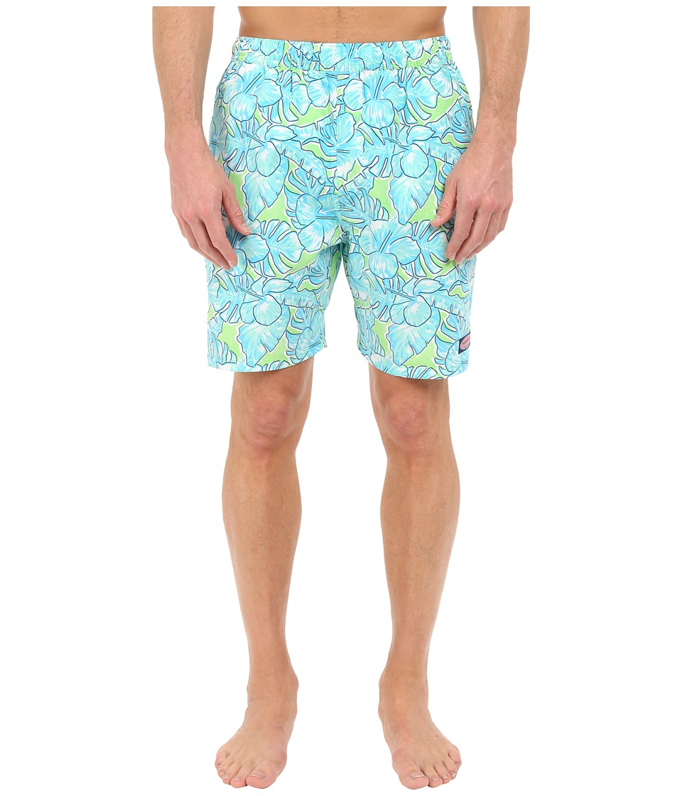 Vineyard Vines - Coastal Floral Chappy Trunk (Grasshopper) Men's Swimwear
