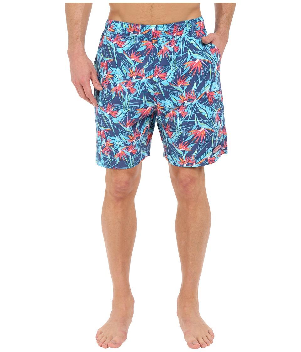 Vineyard Vines - Birds of Paradise Chappy (Moonshine) Men's Swimwear
