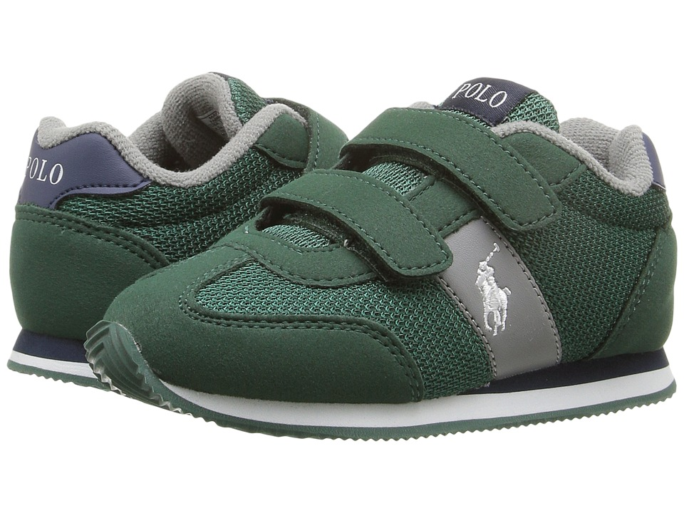 Polo Ralph Lauren Kids - Zuma EZ (Toddler) (Dark Green Mesh/Microfiber/White Pony Pony Player) Boy's Shoes
