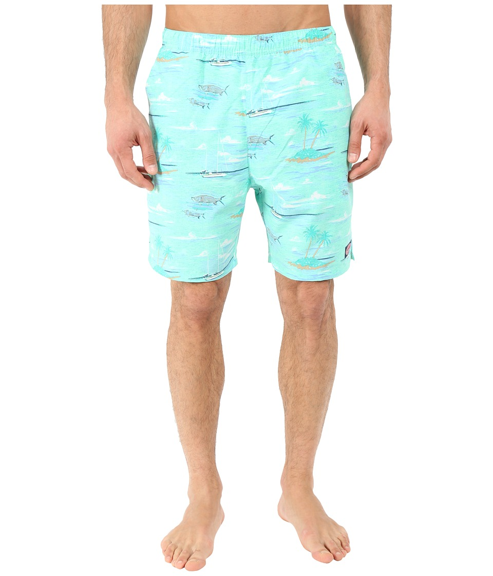 Vineyard Vines - Anguilla Scene Chappy (Marina) Men's Swimwear