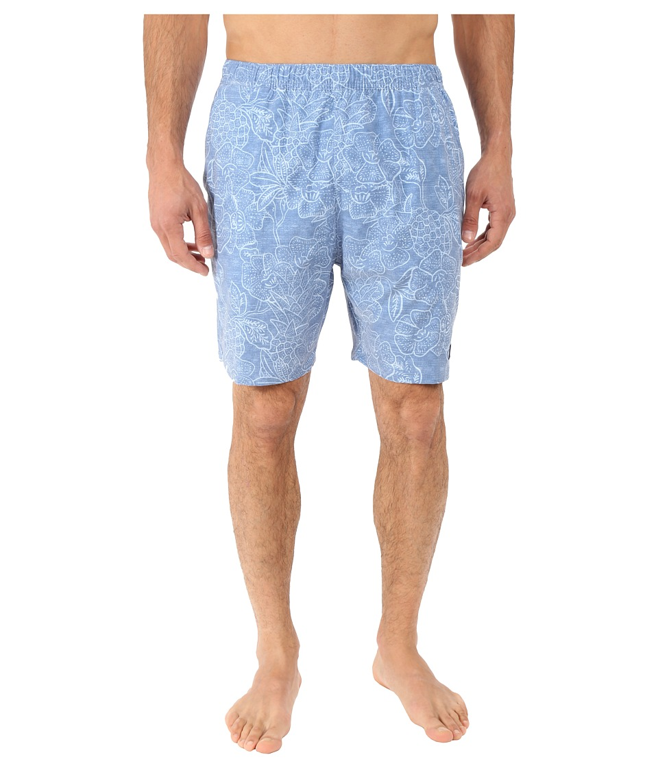 Vineyard Vines - Pineapple Hibiscus Chappy (Flag Blue) Men's Swimwear