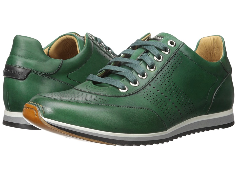 Magnanni - Pueblo (Green) Men's Lace Up Wing Tip Shoes