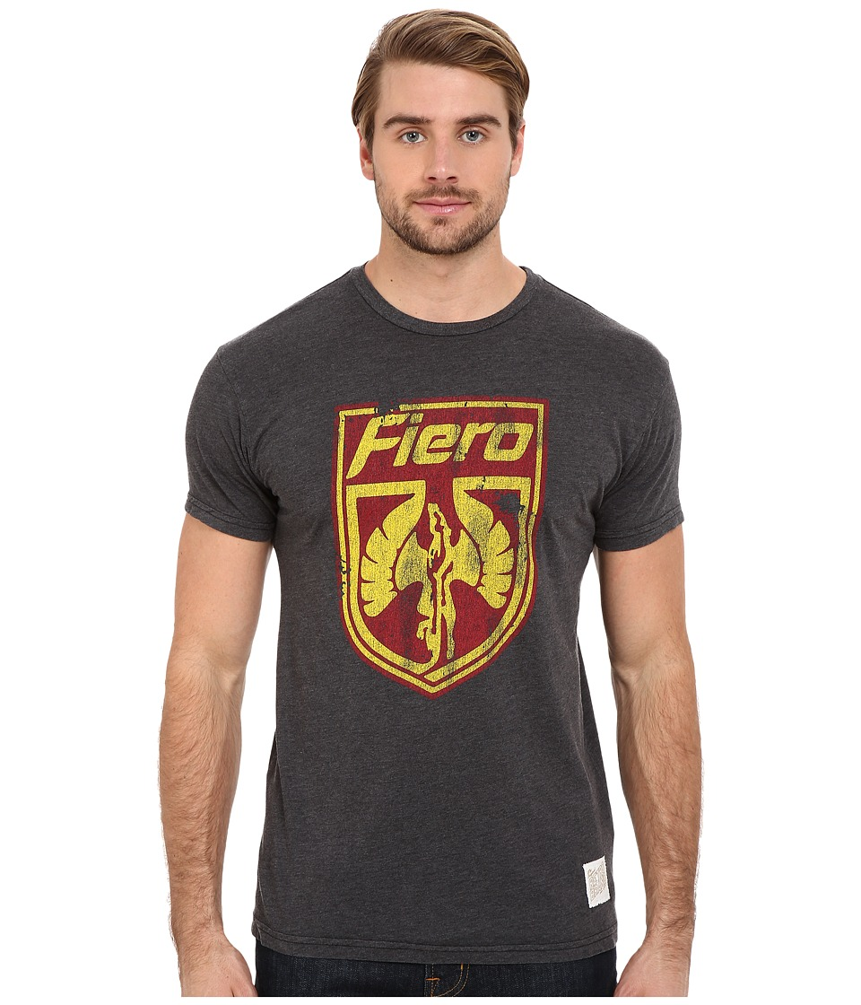 The Original Retro Brand - Heathered Black Short Sleeve Fiero Tee (Heather Black) Men's Short Sleeve Pullover