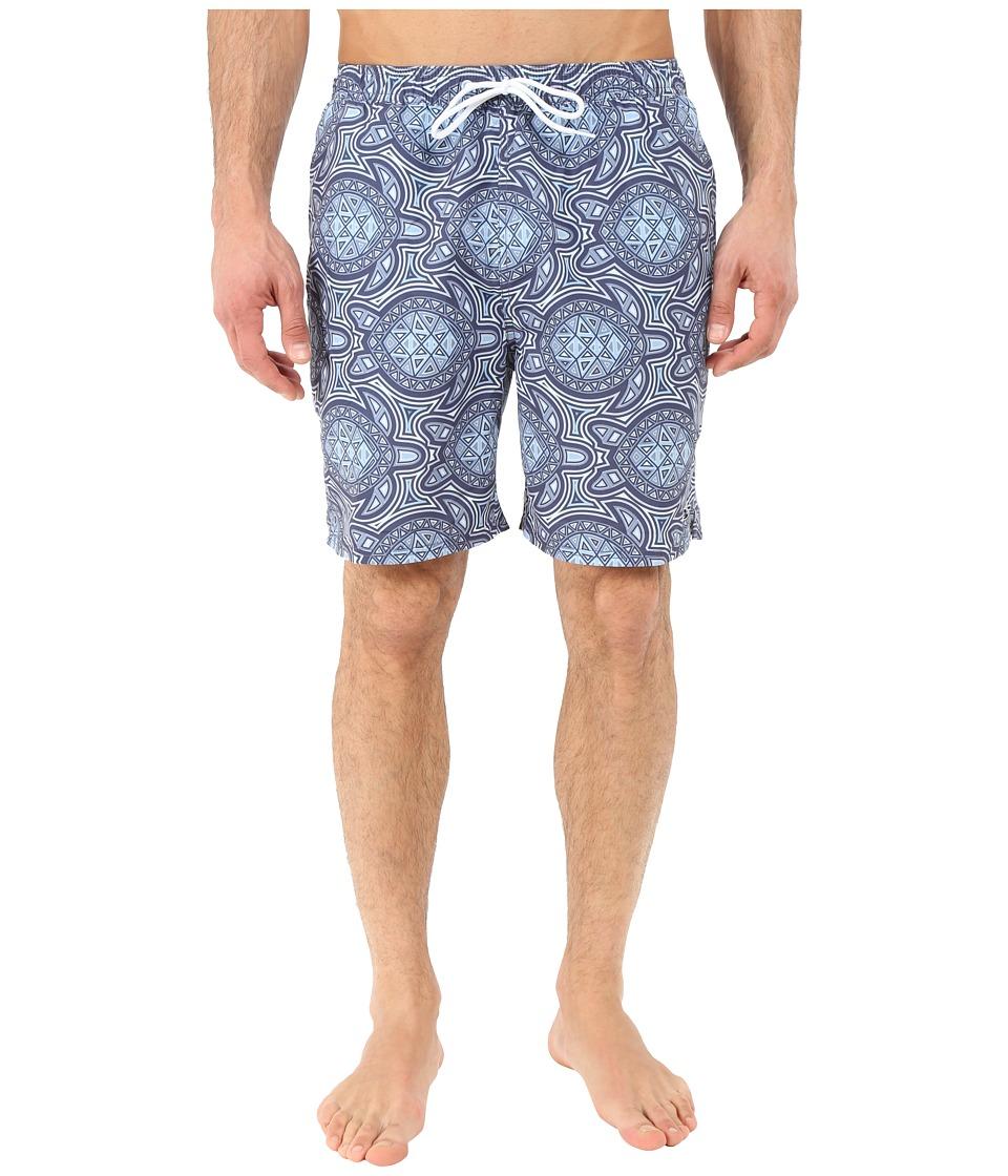 Vineyard Vines - Sea of Turtles Bungalow Shorts (Starry Night) Men's Swimwear
