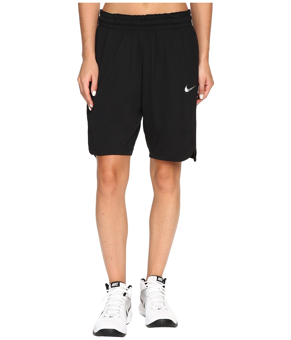 Nike - Elite Basketball Short (Black/Black/Matte Silver) Women's Shorts