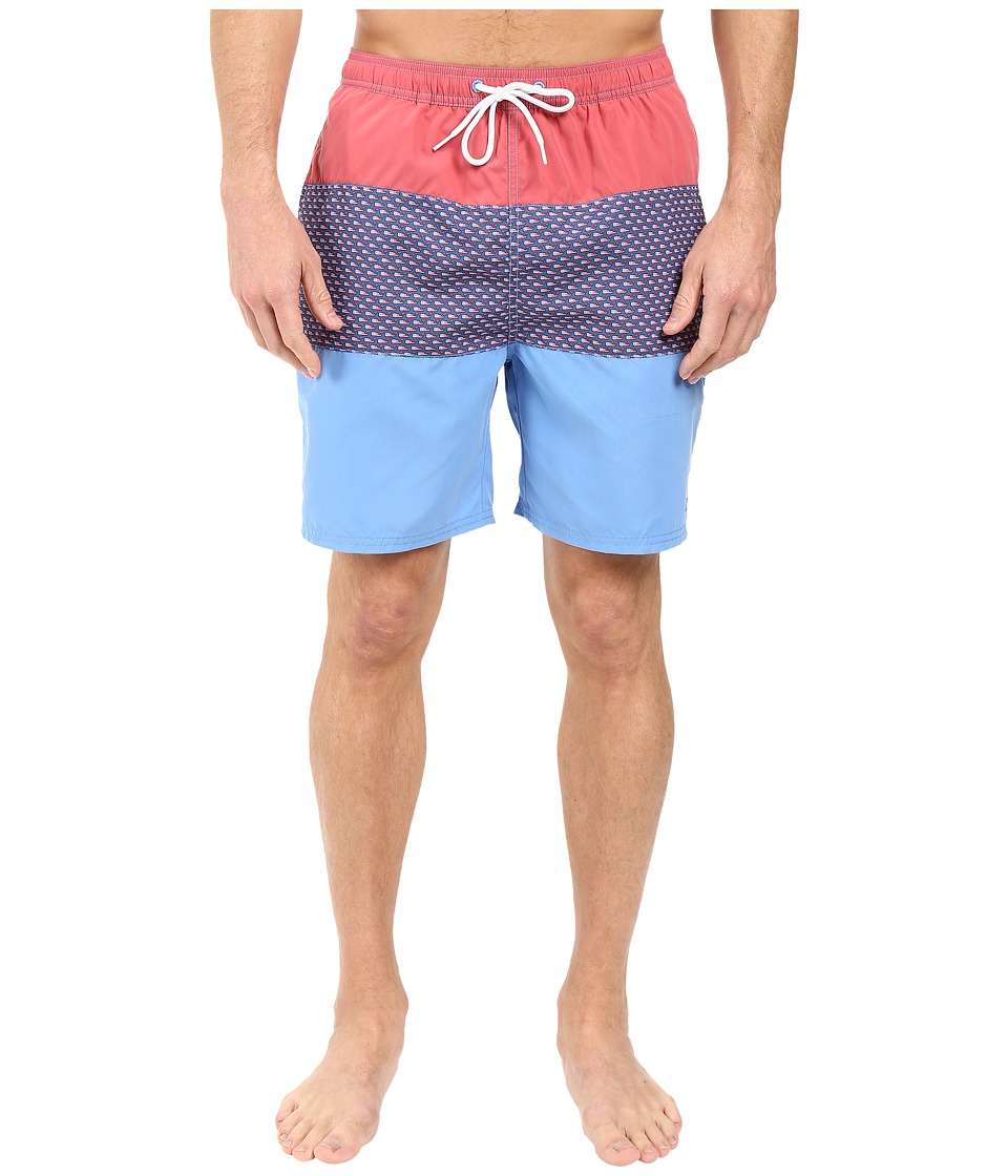 Vineyard Vines - Flag Whale Pieced 5 Sandbar (Cornflower) Men's Swimwear