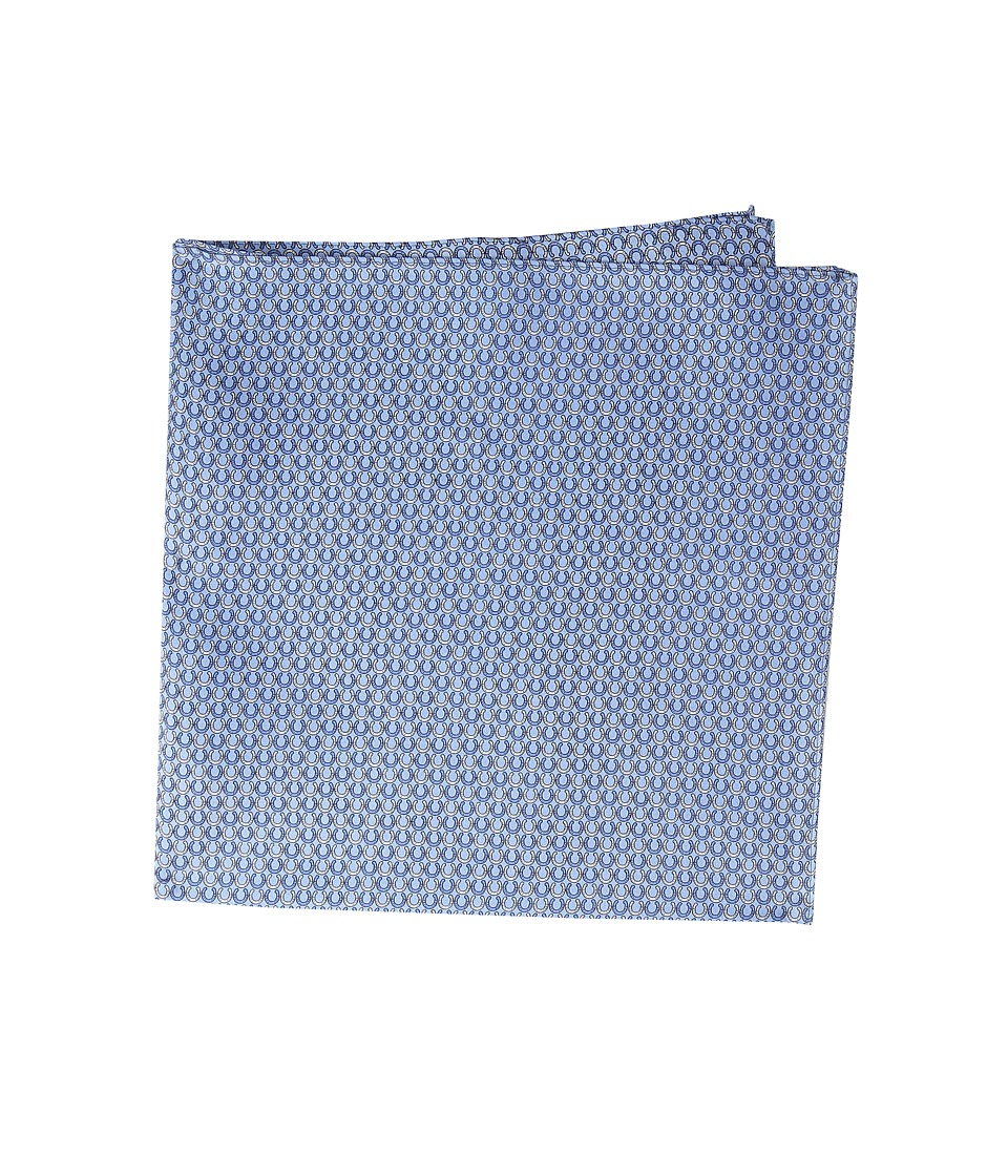 Vineyard Vines - Pocket Square-Horseshoe Geo (Royal Blue) Ties