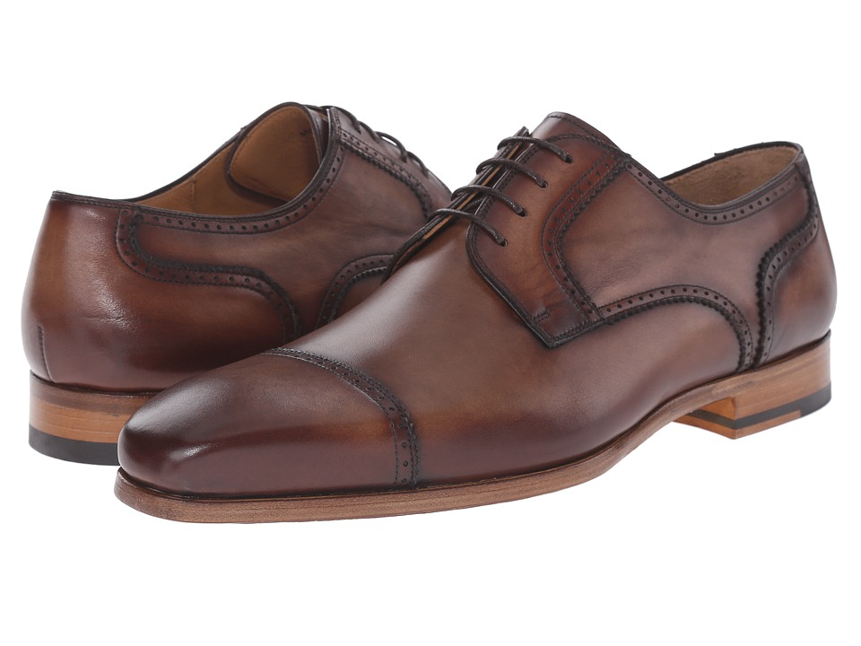 Magnanni - Karim (Mid Brown) Men's Lace Up Cap Toe Shoes